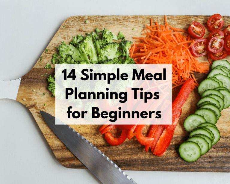 14 Simple Meal Planning Tips for Beginners