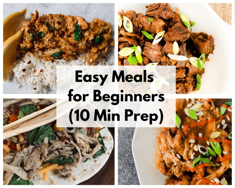 Easy Meals for Beginners (10 Min Prep)