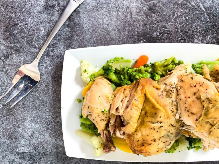 Slow Cooker Whole Roasted Chicken Freezer Meal