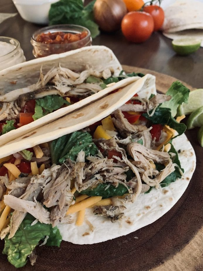 Healthy Ranch Chicken Tacos Freezer Meal