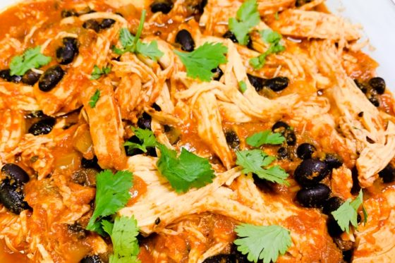 Cheesy chicken enchiladas | slow cooker chicken enchiladas verde | healthy slow cooker chicken enchiladas | slow cooker chicken enchilada stack | crockpot enchilada lasagna | slow cooker enchilada sauce | enchilada recipe