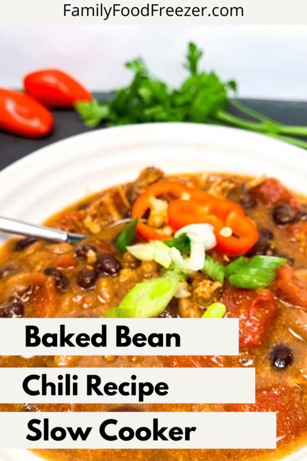 Sweet chili recipe with baked beans | award winning sweet and spicy chili recipe | bean chili recipe | vegetarian baked bean chili | savory chili recipe | bushs baked bean chili | baked bean recipe