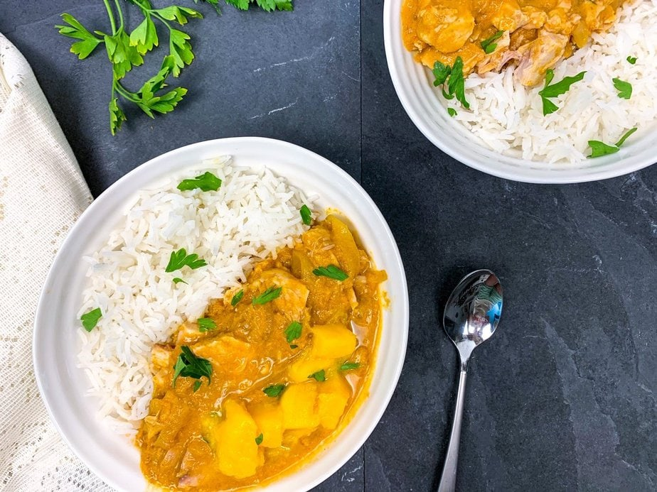 Instant pot chicken curry | instant pot beef curry | mango chicken slow cooker central | mango curry chicken with coconut milk | creamy mango chicken recipe | mango chicken and rice | slow cooker chicken curry
